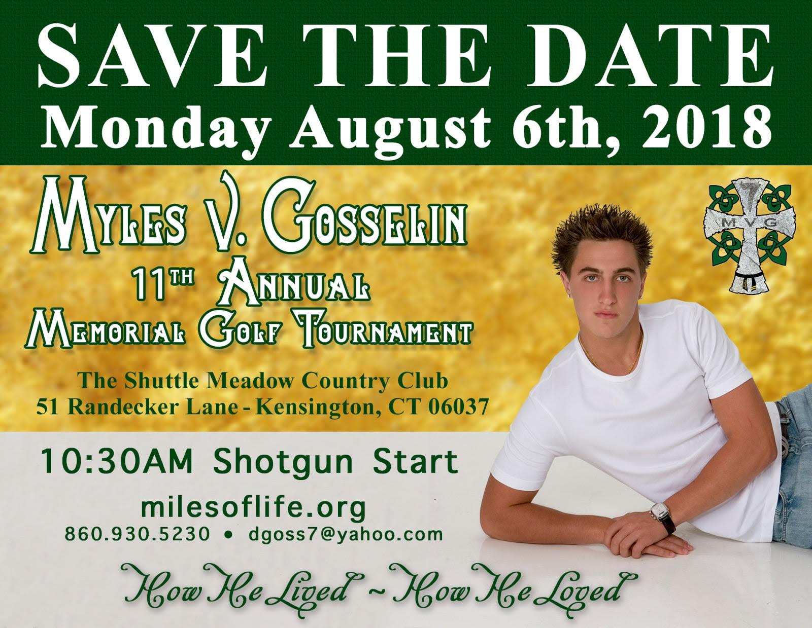2018 Myles Gosselin Golf Tournament